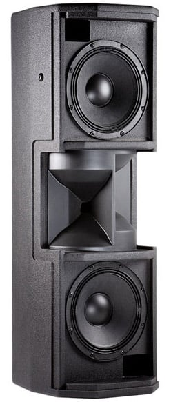"Dual 8"" 2-Way Loudspeaker System in White with Crossfired Waveguide Technology"