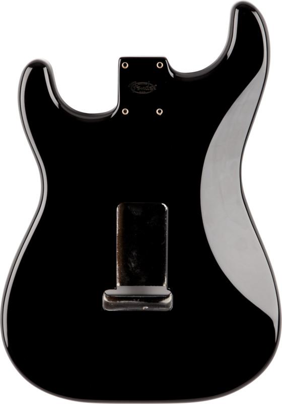 Black SSS Alder Electric Guitar Body with Vintage Bridge Mount