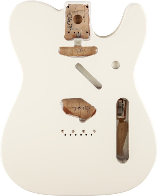 Fender Telecaster® Body Olympic White SH Alder Electric Guitar Body with Vintage Bridge Mount 099-8006-705