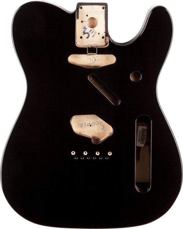 Black SS Alder Electric Guitar Body with Vintage Bridge Mount
