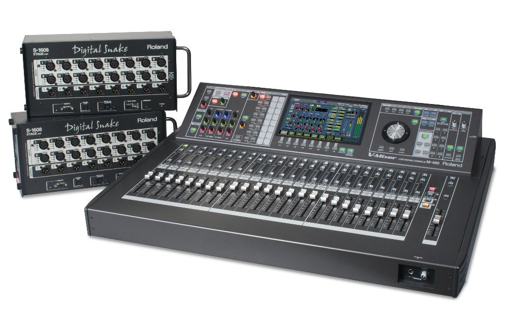 roland m 480 48 channel v mixer live digital v mixing console with two free s 1608 digital snake. Black Bedroom Furniture Sets. Home Design Ideas
