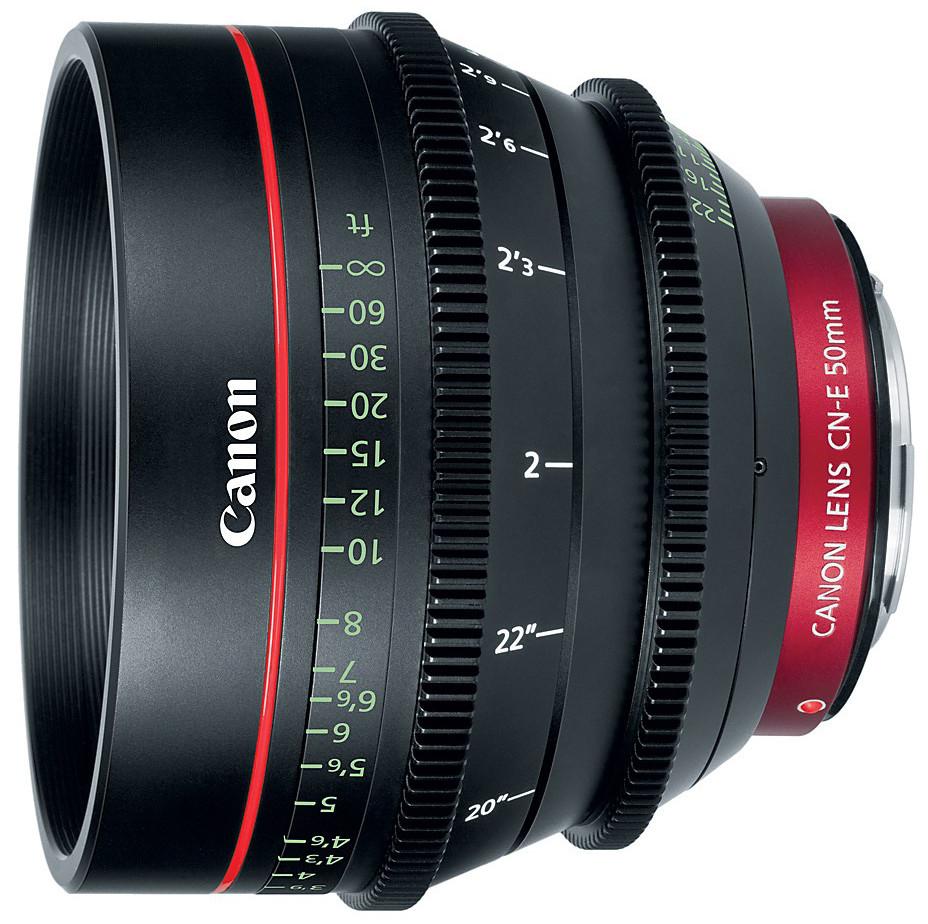 Cinema Prime CN-E50mm T1.3 L F EF Mount Lens