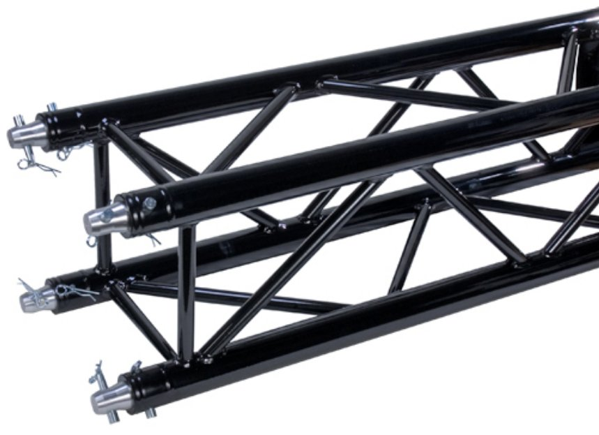 4.92 ft. Square Truss Segment in Black Powder Coat Finish