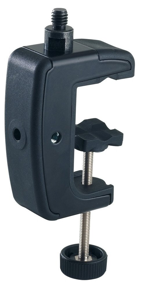 "Black Table Clamp with 5/8"" Threaded Connector"