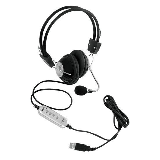 Multimedia/Gaming Headset with Noise-Canceling Microphone and USB Plug