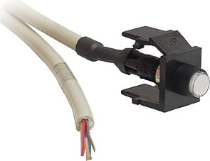Latching Contact Closure with Black Snap-In Port & 6 ft. 4-Conductor Cable