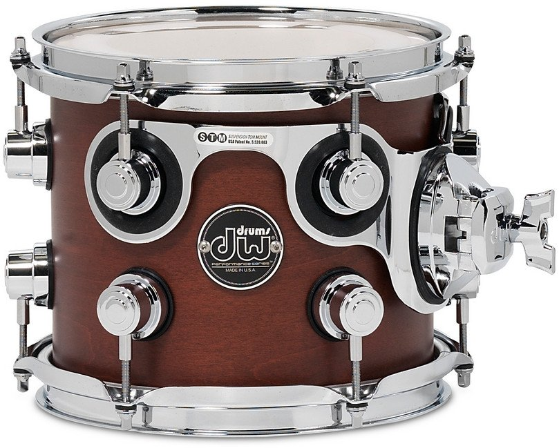 "DW DRPS0708STTB 7"" x 8"" Performance Series Rack Tom in Tobacco Stain DRPS0708STTB"