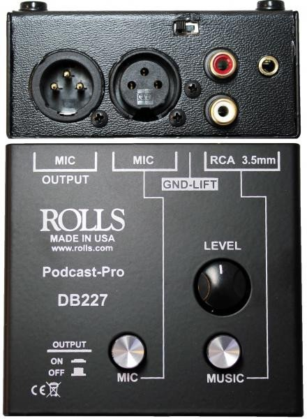 Podcast Pro Microphone Source Mixer