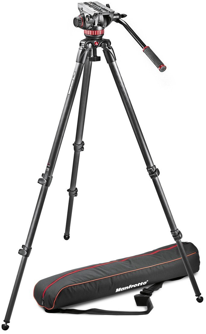 MVH502A Fluid Head with MPRO Carbon Fiber Tripod 535
