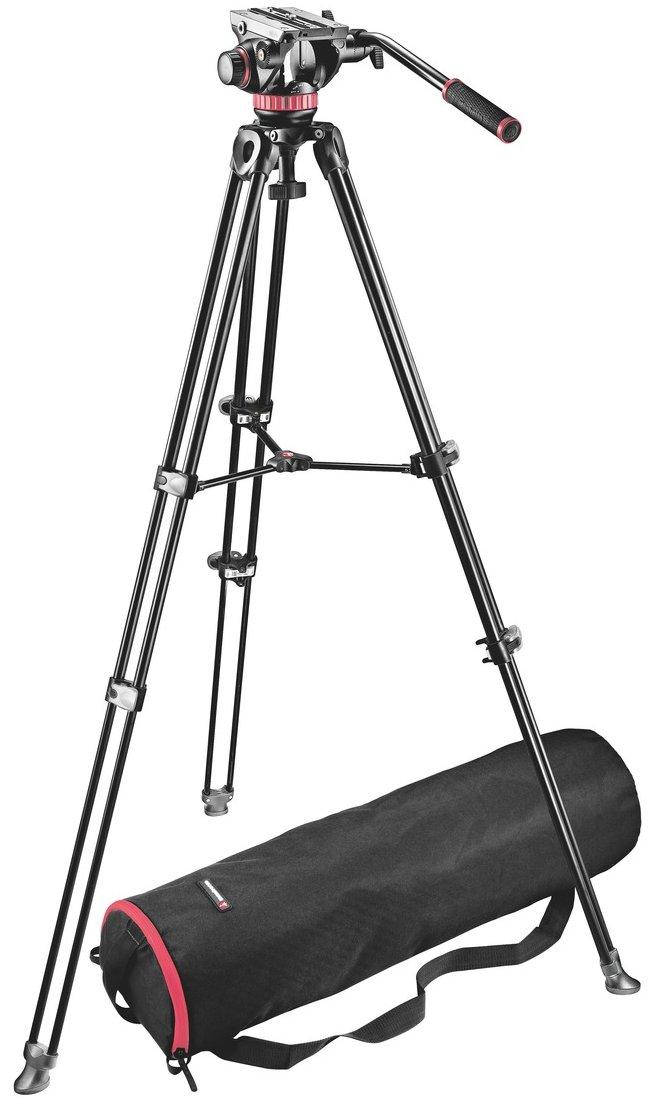 MVH502A Head with MVT502AM Twin Leg Tripod and Bag