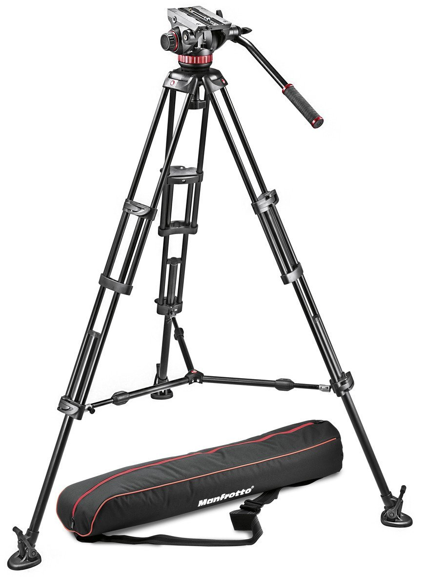 MVH502A Fluid Head + 546B Tripod with Mid Spreader