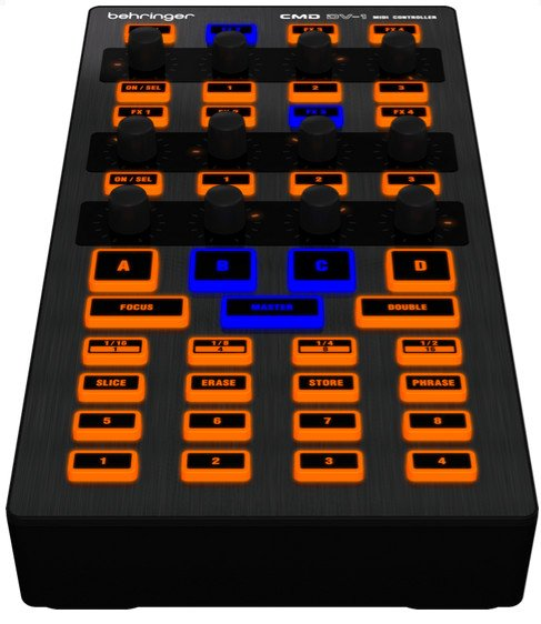 DJ Controller With Transport Controls