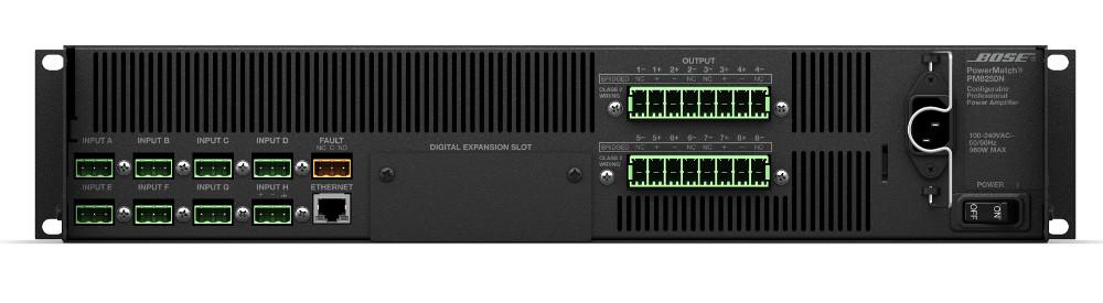 8-Channel 4000-Watt Power Amplifier with Networking