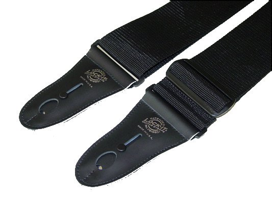 "3"" Black Polypro Guitar Strap with Black Locking Ends"
