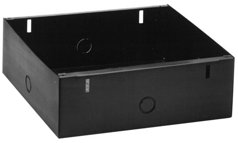 """4"""" Recessed Square Enclosure with Adjustable Mounting Bracket"""