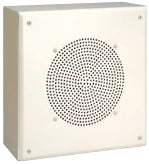 "8"", 4W Flat Front Metal Box Surface-Mount Speaker with Recessed Volume Control"