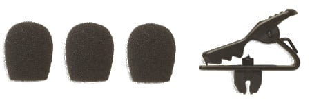 Collar Clip and (3) Windscreens for MX153B in Black