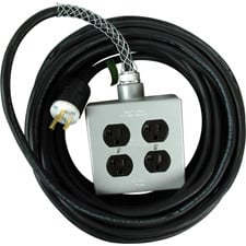 25' 15A AC Power Extension Cord with Quadbox