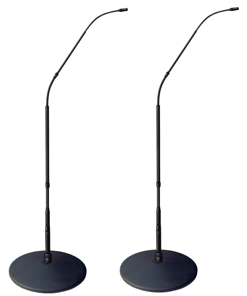 4.7ft Hypercardioid Matched Pair of FlexWand Microphones with Cast-Iron Bases