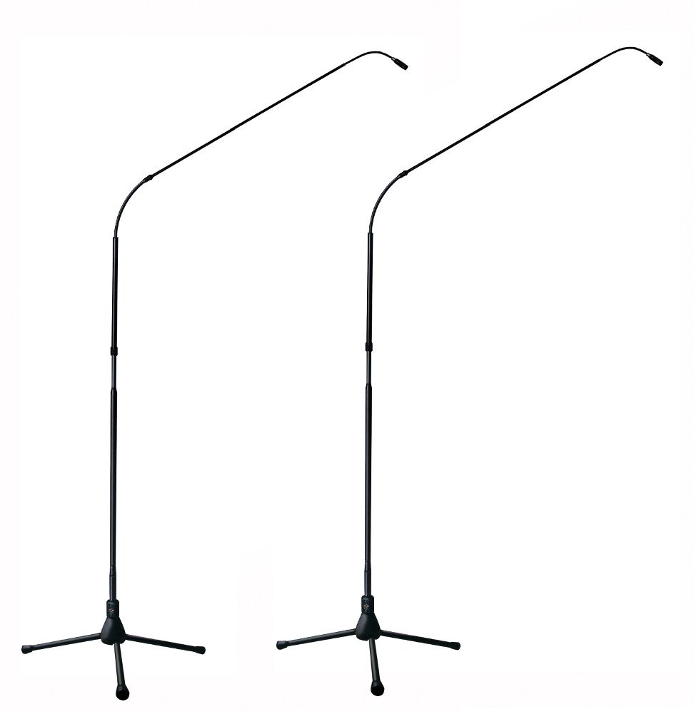 Matched Pair of FlexWand 7 ft Microphones with Tripod Bases