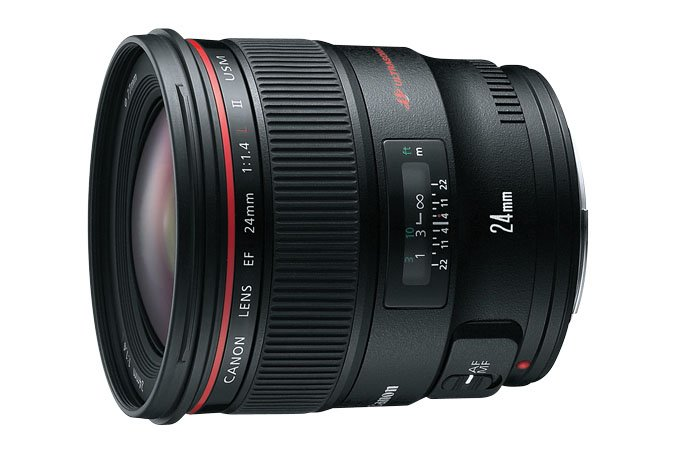 Canon EF Wide-Angle Lens - 24 mm - F/1.4