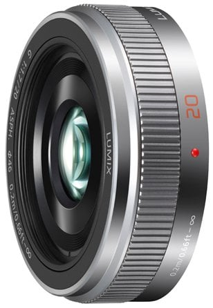 Silver Lumix G 20mm F1.7 II ASPH Lens with MFT Mount
