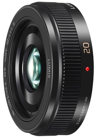 Black Lumix G 20mm F1.7 II ASPH Lens with MFT Mount