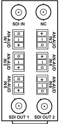 20-Slot Rear I/O Module for 9321 Embedder/De-embedder