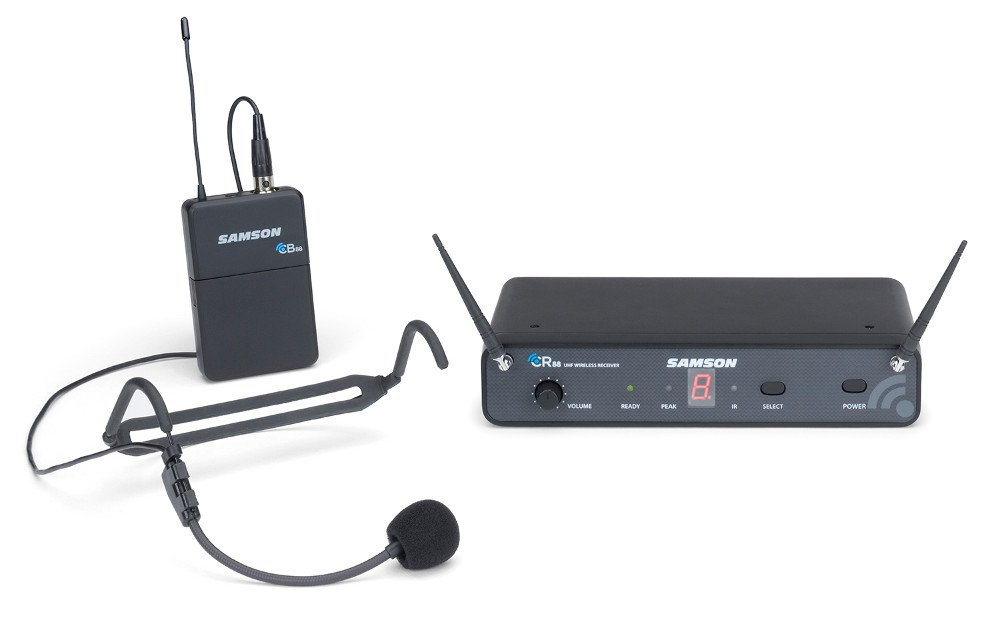 Concert 88 Series 16-Channel True Diversity UHF Wireless Headset System, 638-662 MHz