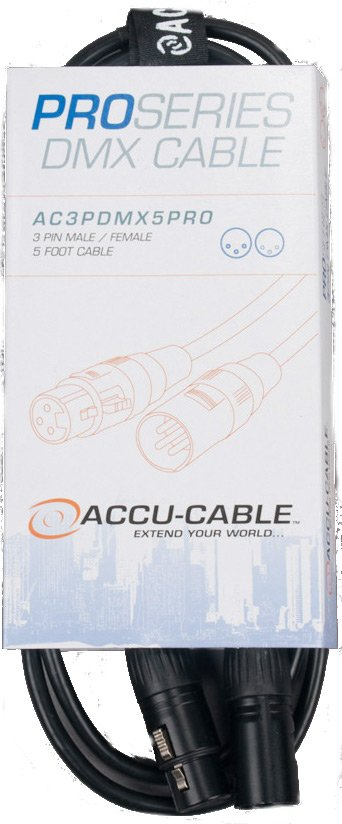 5 ft 3-Pin Pro DMX Cable