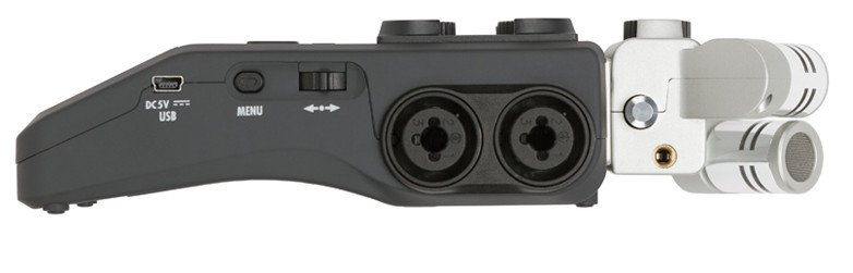 6-Channel Handheld Recorder with 2 Interchangeable Microphone Capsules