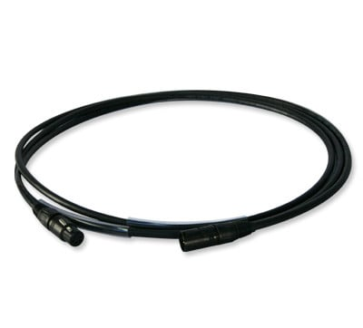15' 5-Pin DMX Cable in Black