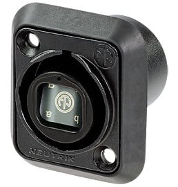 OpticalCON Quad Chassis Connector in Black
