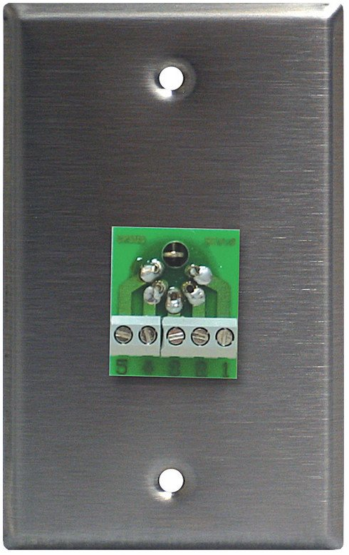 Single-Gang Wall Plate with 5-Pin Male DMX Connector
