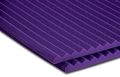 "20 Panels of 2"" x 2 ft x 4 ft Studiofoam Wedge in Purple"