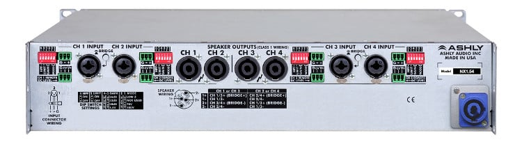 4x1500W 2-Ohm Networkable Power Amplifier
