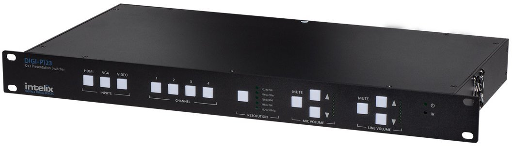 12 Input x 3 Output Multi-Format Presentation Switcher