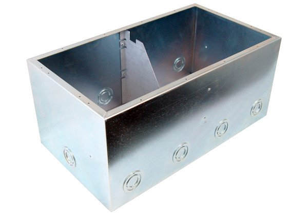 "8"" Double-Wide Back Box with Isolation Bracket"