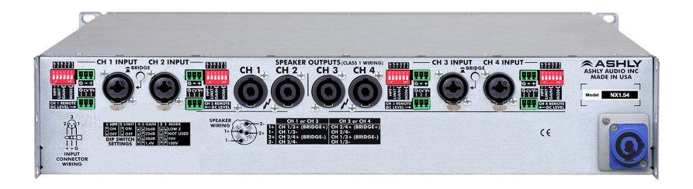 4 Channel 1500W @ 4 Ohm Network Power Amplifier with DSP