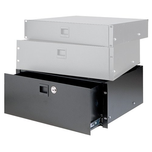 4RU Heavy-Duty Rack Drawer in Black Anodized Finish