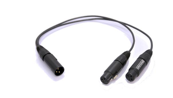 4' (2)XLRF-XLRM Y Cable