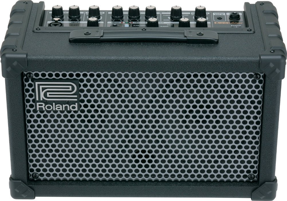 roland cube street battery powered stereo guitar vocal modeling amplifier full compass. Black Bedroom Furniture Sets. Home Design Ideas