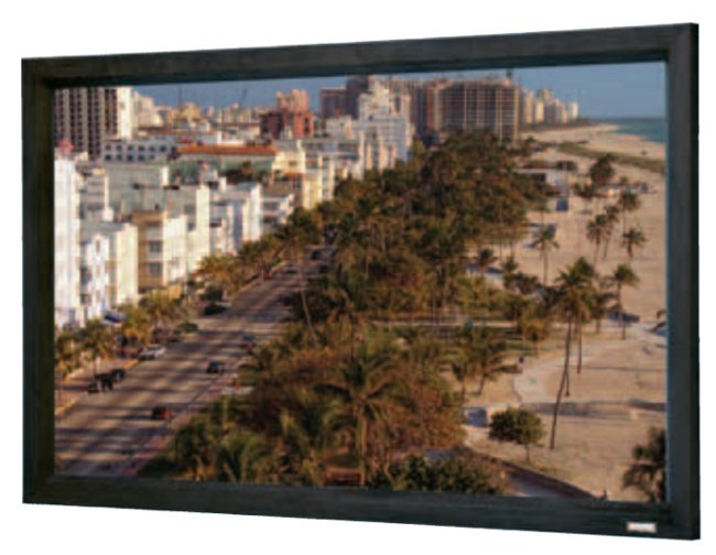 "69"" x 110"" Cinema Contour® Permanently Mounted Wall Screen with Da-Mat Surface"