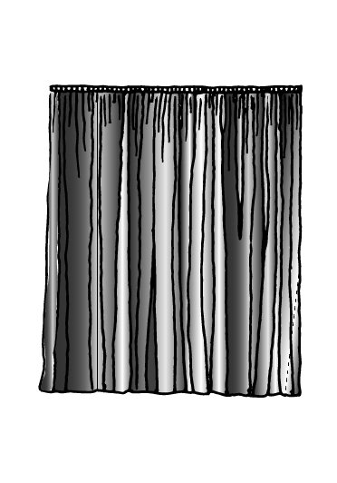 12' x 13' Ultra Velour Drapery Panel in Black