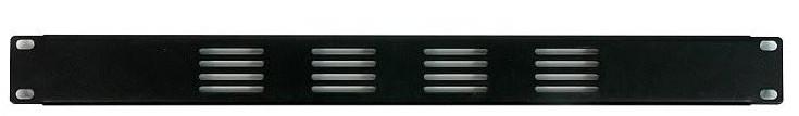 1RU Vented Blank Rack Panel