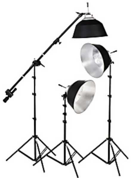 Smith Victor Corp KFL-33 Kit 3 Light Flourescent 1050W Daylight Kit KFL-33