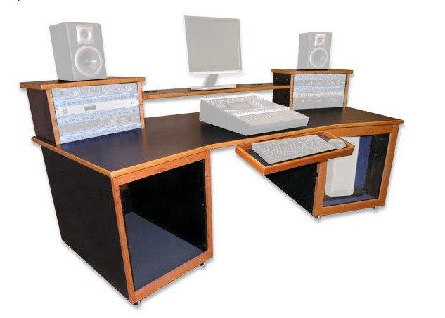Digistation Recording Studio Wing Desk with IsoBox