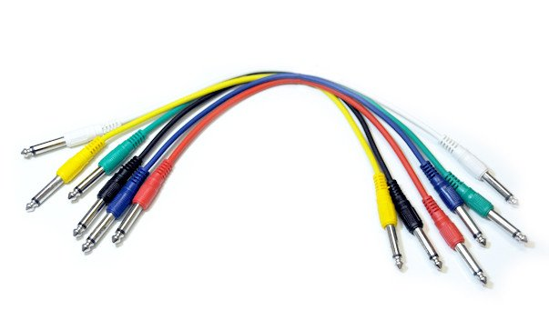 """6-Pack of 1' Connect Series 1/4"""" TS M-M Patch Cables"""