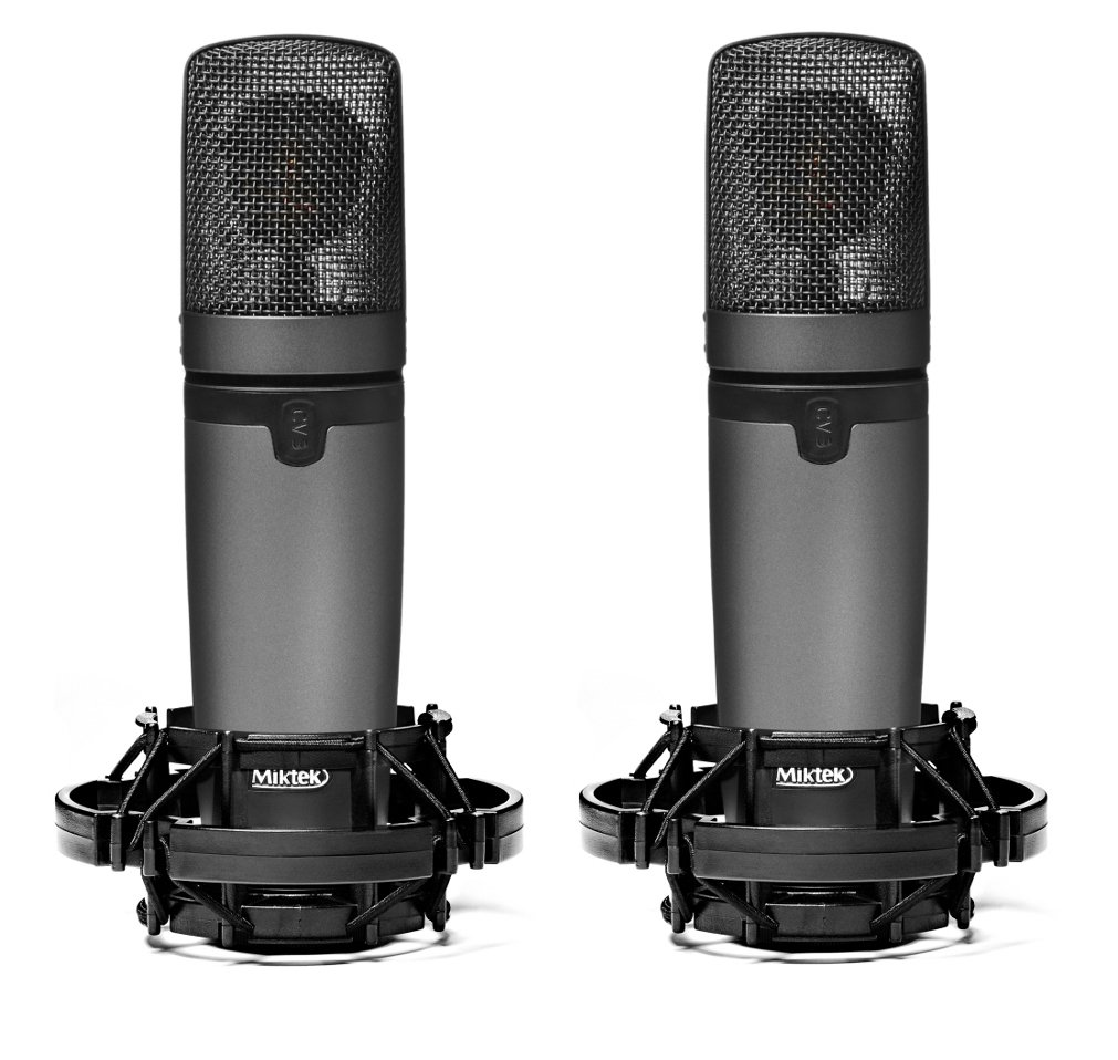 Matched Pair of Large Diaphragm Multi-Pattern Tube Condenser Microphones