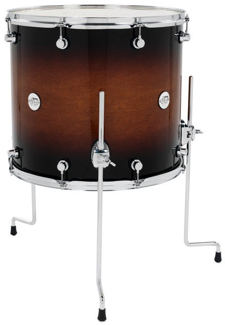 "DW DDLG1618TTTB 16""x18"" Design Series Floor Tom in Tobacco Burst Finish DDLG1618TTTB"